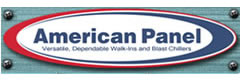 American Panel:  Walk-in Coolers and Freezers, Blast Chillers and Shock Freezers